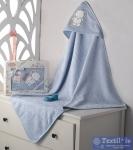 Полотенце-конверт детское Karna Bambino Slon, голубой
