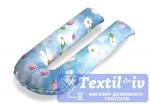 Наволочка на подушку для беременных Легкие Сны Цветы форма U, поплин