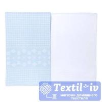 Набор кухонных полотенец Arloni Скандинавия-2, голубой-белый