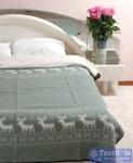 Одеяло Vladi Олени всесезонное, бел/олив