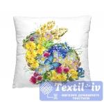 Декоративная подушка Волшебная Ночь Цветочный заяц