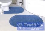 Набор ковриков для ванной Modalin Prior, голубой