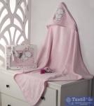 Полотенце-конверт детское Karna Bambino Slon, розовый