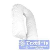 Наволочка на подушку для беременных AlViTek U340 форма U, сатин, белый