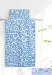 Полотенце Aquarelle Мадагаскар леопард, белый-спокойный синий