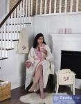 Халат с полотенцами Karna Adra, молочный