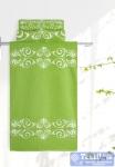 Полотенце Aquarelle Шарлиз, белый-травяной