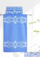 Полотенце Aquarelle Шарлиз, белый-спокойный синий