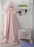 Полотенце-конверт детское Karna Bambino Train, розовый