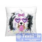 Декоративная подушка Волшебная Ночь Мега пес в очках