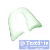 Наволочка на подушку для беременных AlViTek U280 форма U, сатин, салатовый