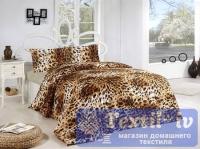 Постельное белье Altinbasak Leopar, коричневый